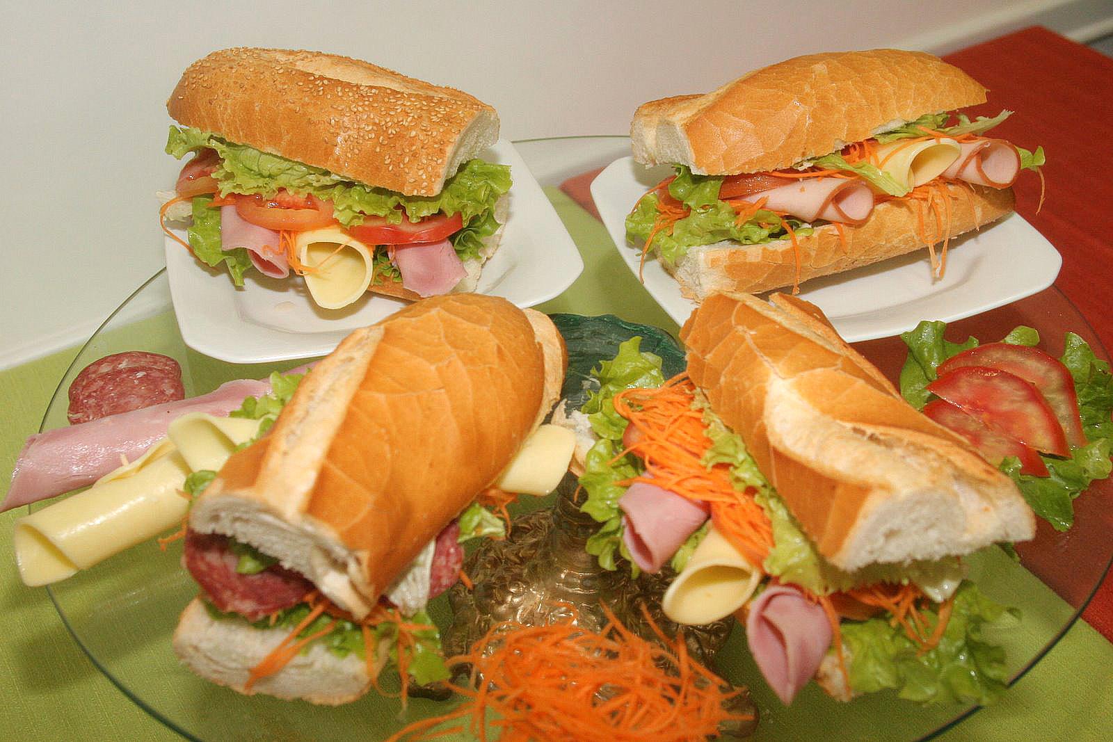 Sanduiche Pao Baquete